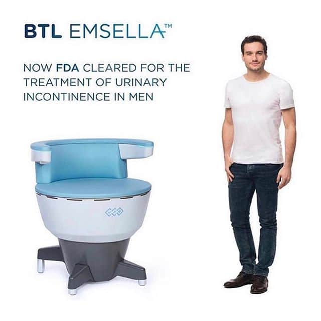 Emsella Chair, now FDA cleared for the treatment of urinary incontinence in men and women